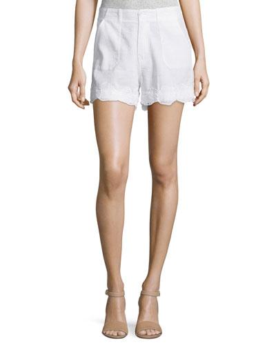 Amas Mid-Rise Shorts, White