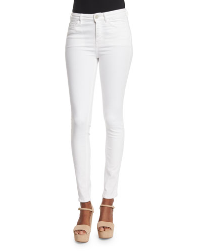 Bodycon Skinny Jeans, White