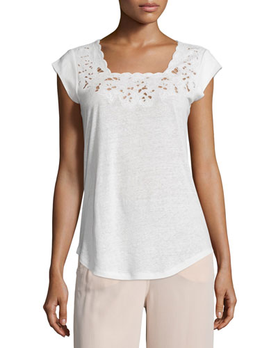 Saqui Embroidered-Lace Top