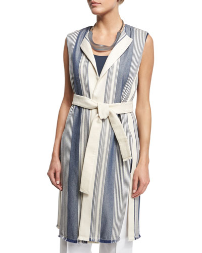Fergie Belted Striped Vest