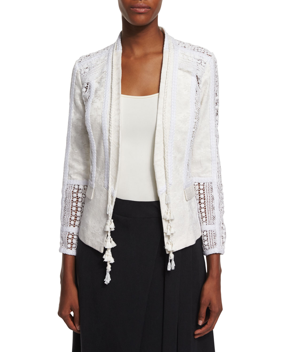 Poppy Embroidered Lace Jacket