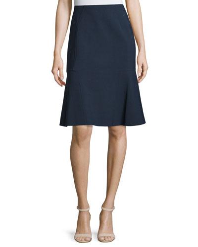 Mid-Rise A-Line Skirt, Deep Navy