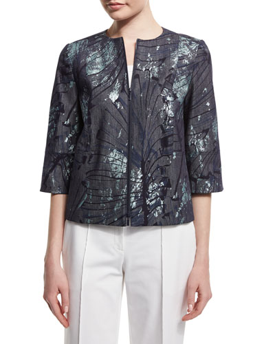 Athea Tropical-Print Jacket