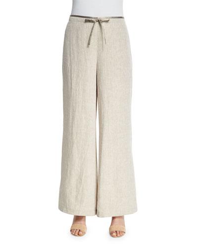 Drawstring Wide-Leg Pants