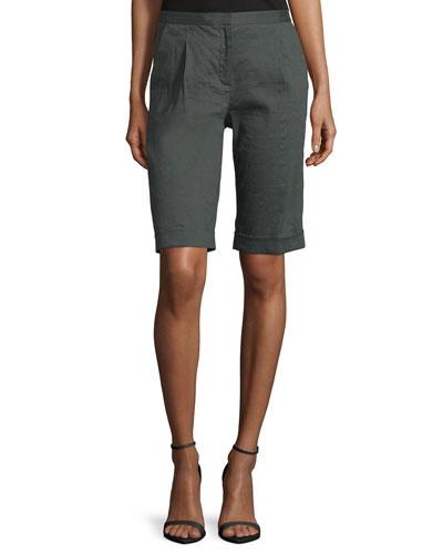 City Slim-Fit Bermuda Shorts