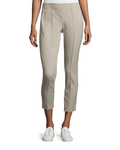Alettah Ainsley Check Cropped Pants