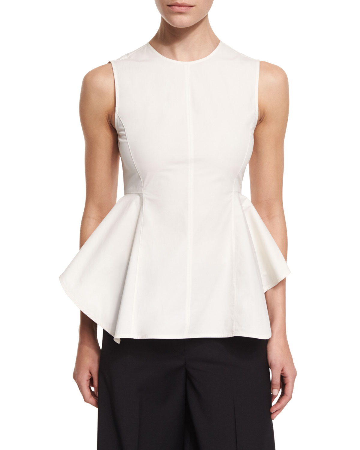 Kalsing Light Sculptural Peplum Top