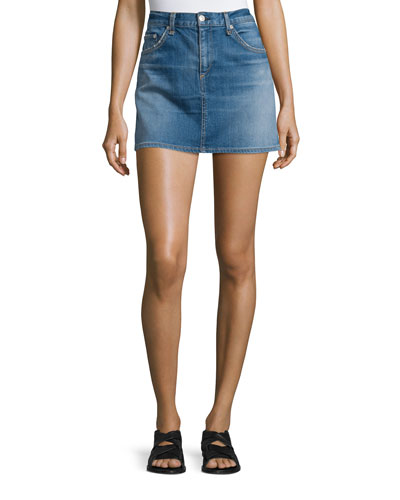 Denim Mini Skirt, Delancey
