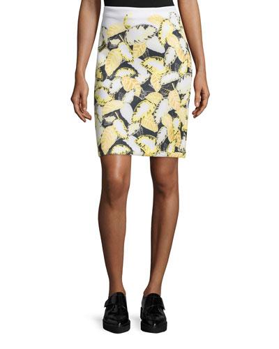 Daisy Pencil Skirt, Daisy Yellow/Multi
