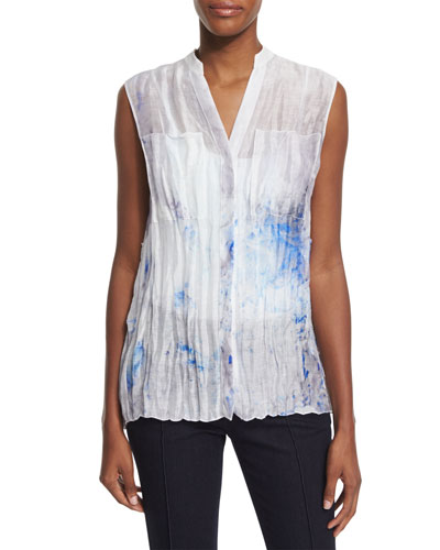 Enya Sleeveless Printed Blouse