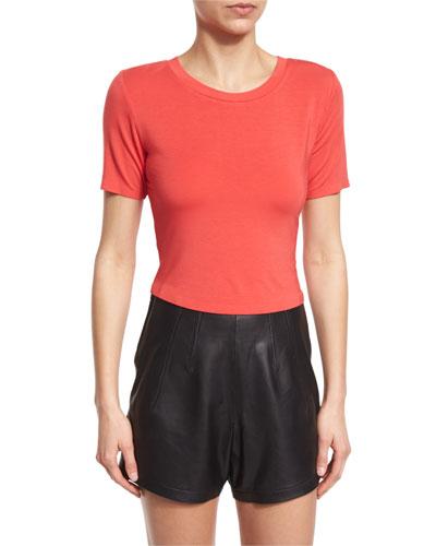 Short-Sleeve Cropped T-Shirt, Poppy