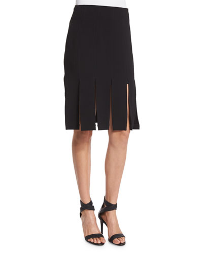 Mid-Rise Carwash Skirt, Black