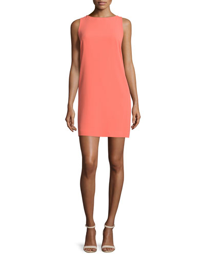 Sleeveless Open-Back Shift Dress