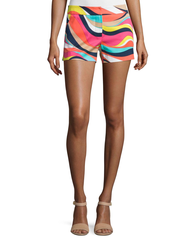 Wavy Striped Short Shorts