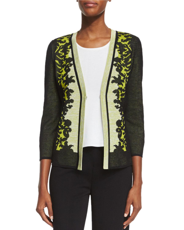Short Tropical-Print Jacket, Plus Size