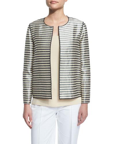 Leo Shiny Striped Jacket