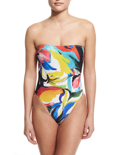 Bishop Painterly Printed One-Piece Swimsuit