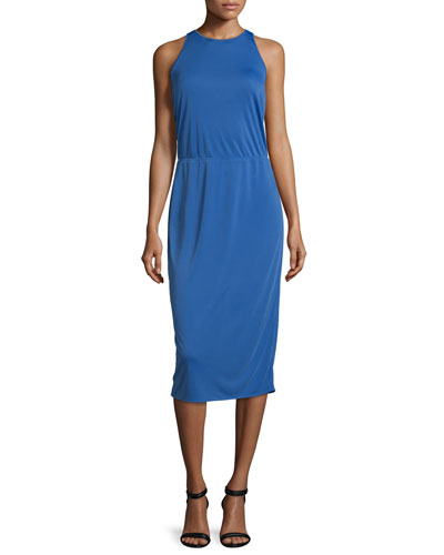 Sleeveless Racerback Midi Dress, Wisteria