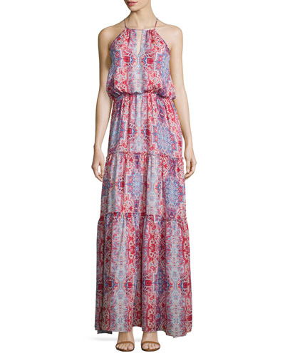 Tudor Sleeveless Tiered Maxi Dress, Marmari