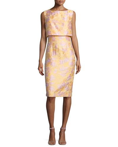 Sleeveless Popover Sheath Dress