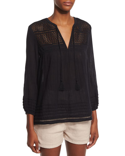 Almanor Crocheted Knit Top