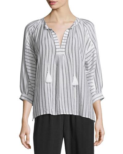 Toluca Striped Cotton Top