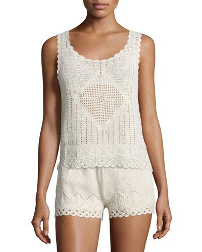 Lana Hand-Crocheted Sleeveless Top