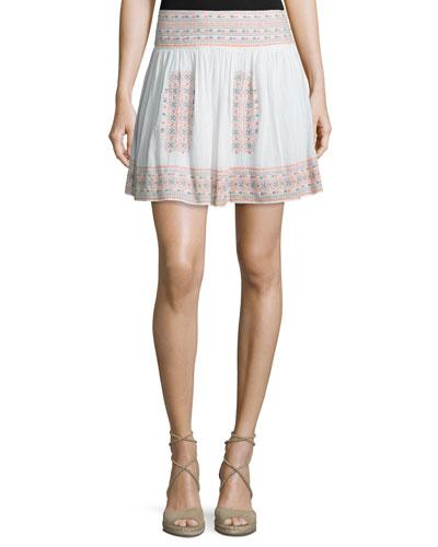 Shandon Embroidered Cotton Skirt