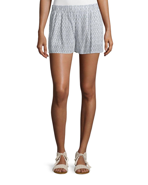 Sibylle Dot-Print Silk Shorts