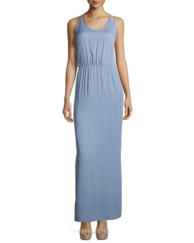 Sleeveless Scoop-Neck Maxi Dress, Lavender