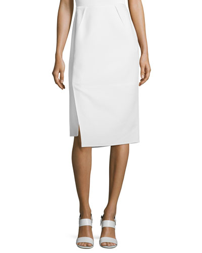 Sarah Asymmetric Pencil Skirt, Cloud