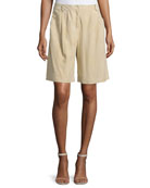 Clarkson Pleated-Front Shorts, Sahara