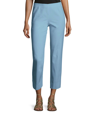 Bleecker Stretch-Cotton Cropped Pants, Portofino