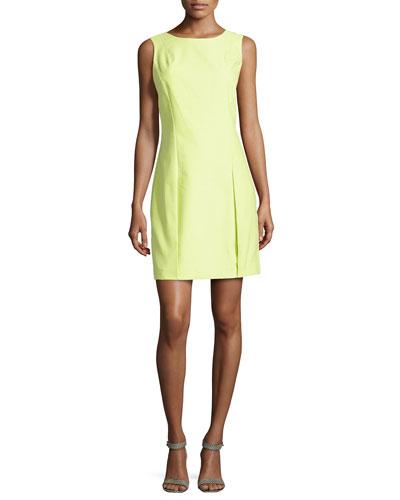 Sleeveless Pleat-Detail Dress, Lemonade