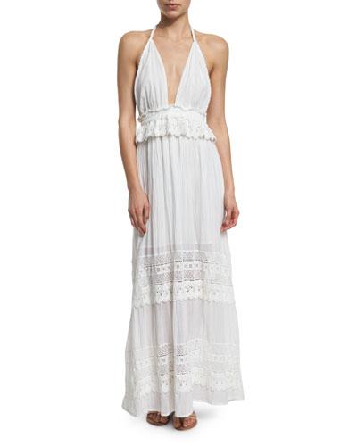 Braided Love Crocheted Maxi Halter Dress