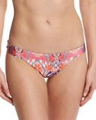 Rhapsody Printed Reversible Low-Rise Swim Bikini Bottoms