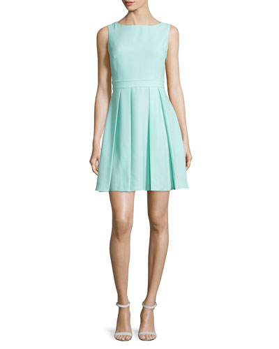 sleeveless bow-back mini dress, mint liqueur