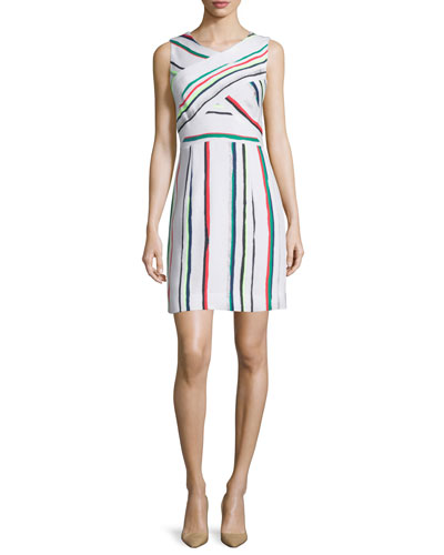 Allison St. Tropez Striped Dress, Multi Colors