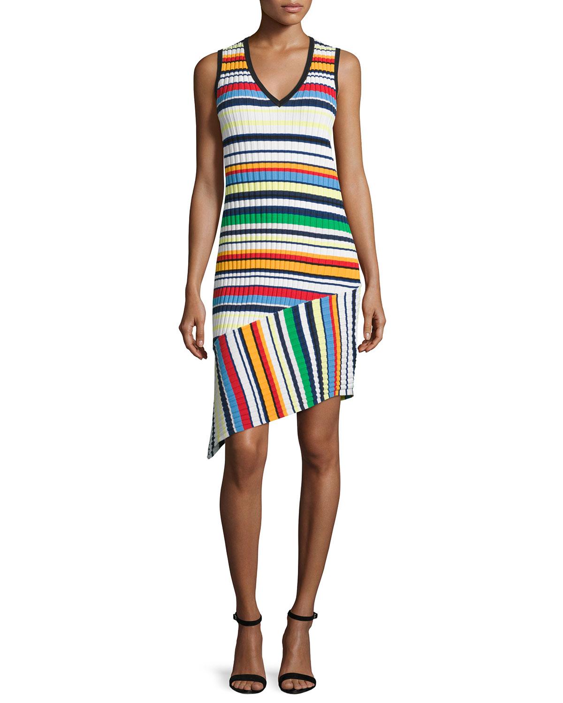Directional Pop Stripe Dress