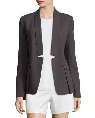 Long-Sleeve Open-Front Jacket, Lead