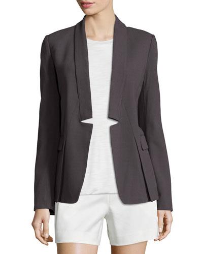 Long-Sleeve Open-Front Jacket, Lead