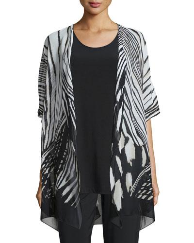 Summer Safari Short-Sleeve Cardigan