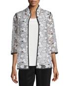 Magnolia Organza 3/4-Sleeve Jacket
