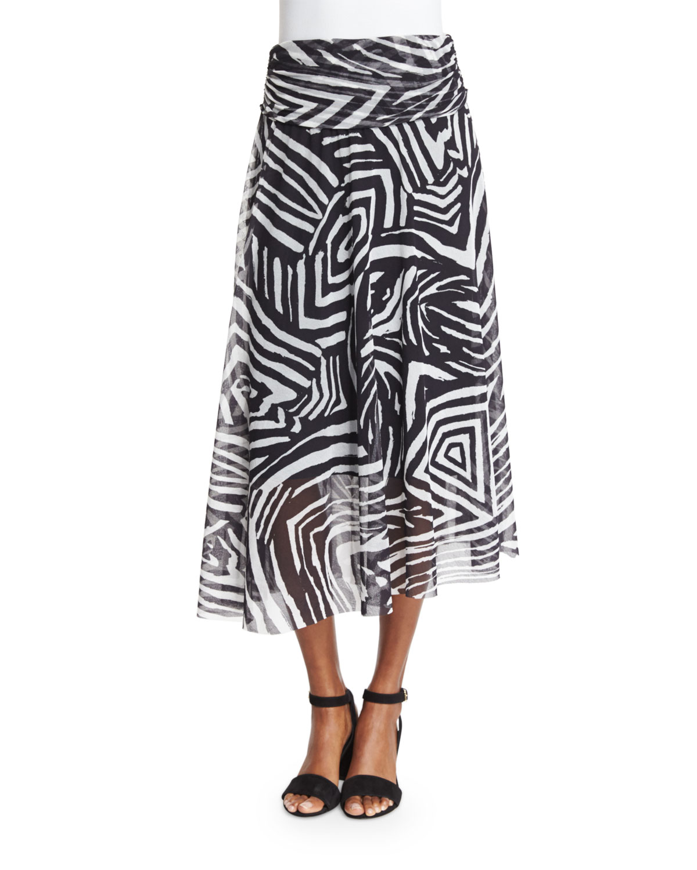Tribal-Print Maxi Skirt