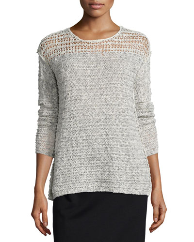 Russel Long-Sleeve Sweater, Blithe/Buff
