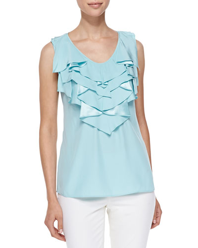 Rianne Ruffled Silk Top