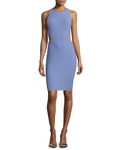 Phoenix Cutout Sheath Dress, Hyacinth