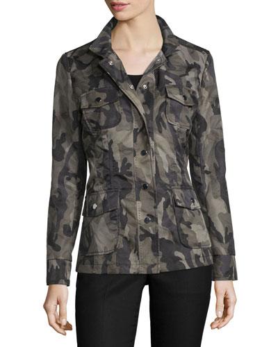 Long-Sleeve Camo-Print Jacket