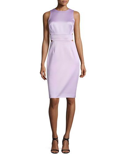 Sleeveless Sheath Dress W/Cutouts, Orchid