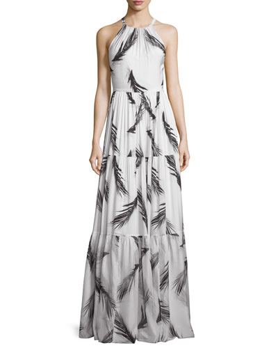 Maeve Sleeveless Tiered Maxi Dress